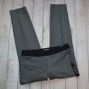 EXPRESS Size 4 Gray Dress Pants EDITOR ANKLE NWT